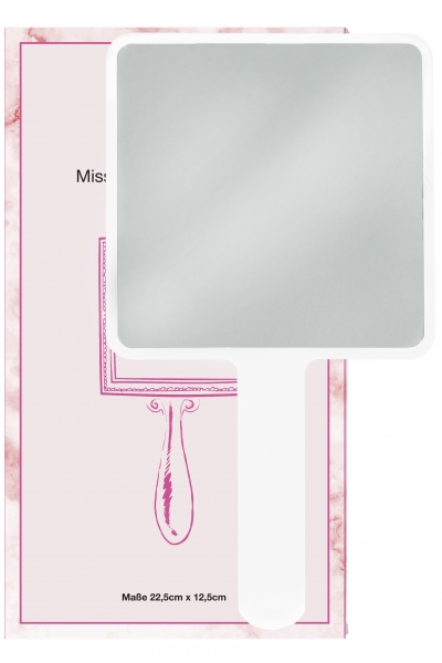 Miss Lashes | Hand Mirror | White