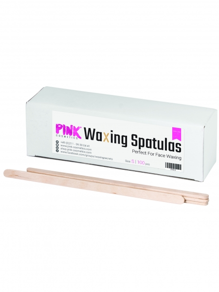 PINK | Wooden Spatula (for Hot Wax) | 100 pieces
